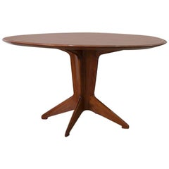 Round Rosewood Dining Table by Ico and Luisa Parisi, circa 1950s