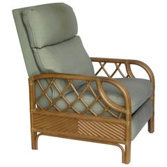 Rattan Reclining Lounge Chair