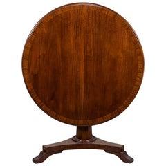 Antique English William IV Mahogany Tilt-Top Pedestal Table, circa 1840