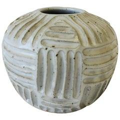 Vintage White Pottery Vase or Vessel