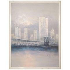 Manhattan City Skyline Painting