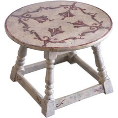 Antique French Round Painted Table, circa 1900