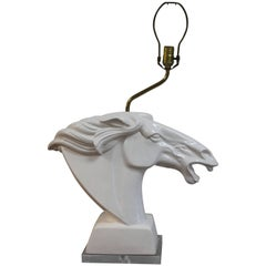 Ceramic Horse Head Lamp