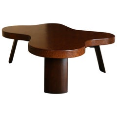 Amoeba Cork Top Coffee Table by Paul Frankl