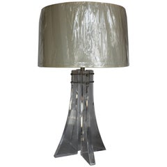 Modern Lucite Architectural Table Lamp
