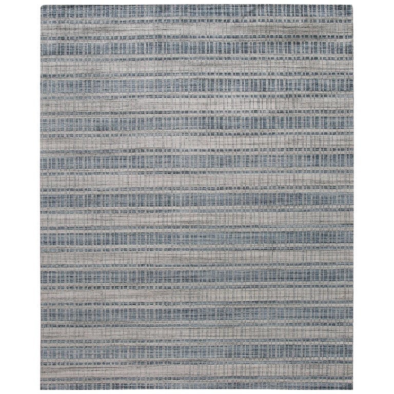 21st Century, Modern Hand-Loomed Indian Rug For Sale