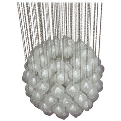 Huge Kalmar Tulipan Crystal Glass Chandelier, Vienna, 1960