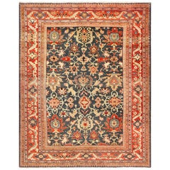 Green Background Antique Persian Ziegler Sultanabad Rug