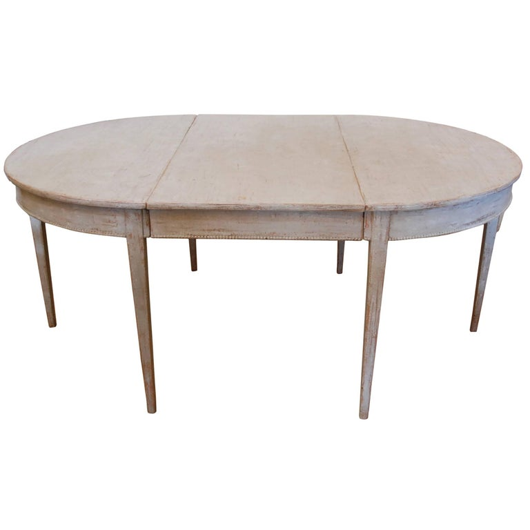 Swedish Gustavian Oval Dining Table For Sale