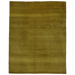 New Modern Area Rug with Contemporary Art Deco Style, Golden and Saffron Hues