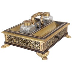 Regency Period Ebony and Boulle Standish