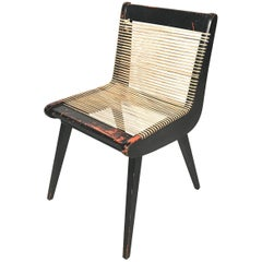 Classic Midcentury Modern Sculptural Rope Chair W. Amazing Patina