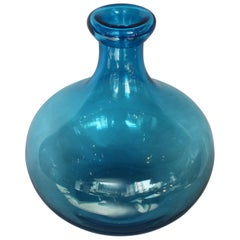 Blown Blue Art Glass