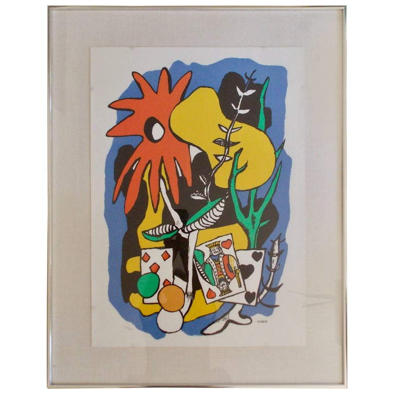 After Fernand Leger Lithograph in Colors Musee Boit For Sale