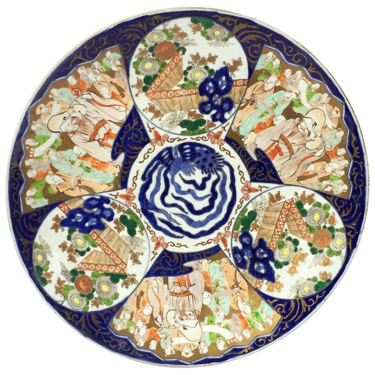 Large Imari Charger from Japan