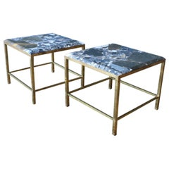 Pair of Brass Tables by Maison Jansen, France