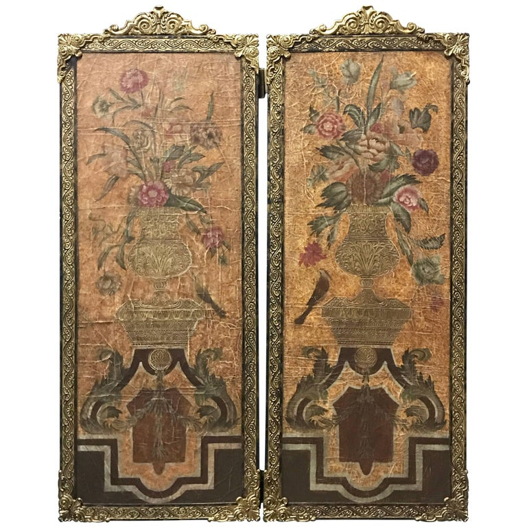 Pair of Baroque Style Still Life Paintings, Wall Panels