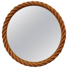 Beautiful Audoux and Minet Rope Rond Mirror, circa 1960