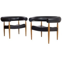 Nanna Ditzel, Pair of Sausage Chairs, Kold Savvaerk, 1958