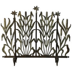 Cat Tail Fireplace Screen