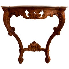 Small French Louis XV Style Console Table, circa 1850
