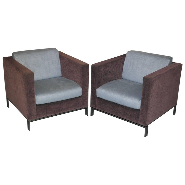 Pair of Very Rare Walter Knoll Foster 500 Contemporary Armchairs
