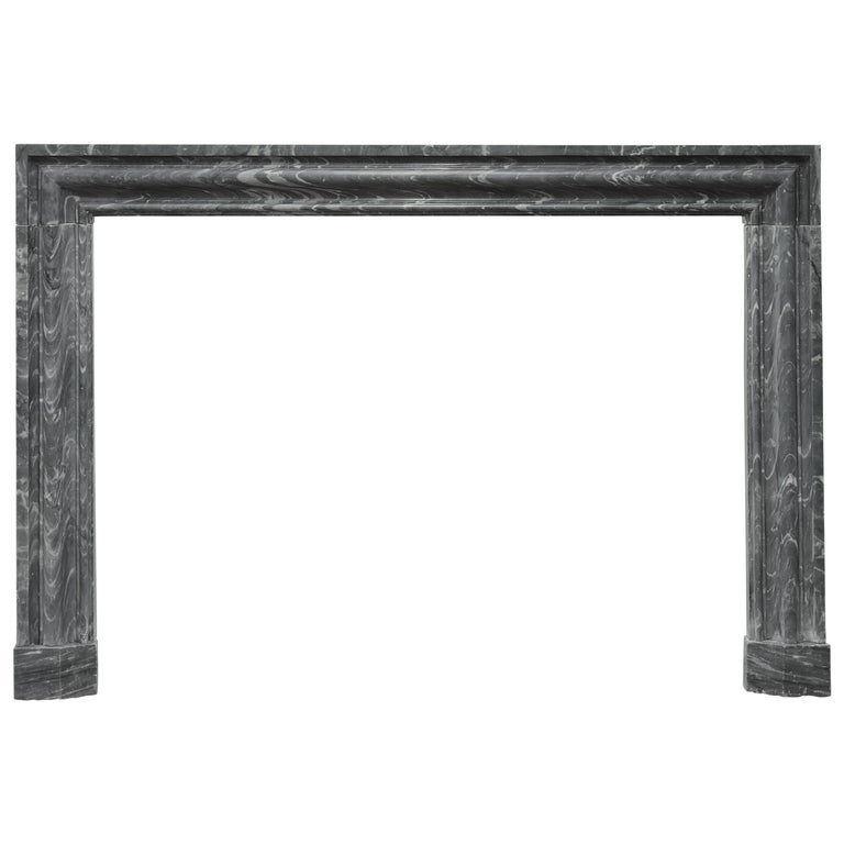 Bolection Fireplace in Grey Marble