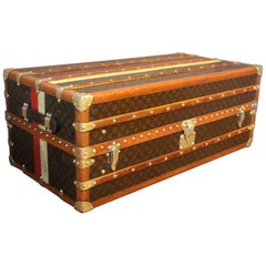 1930s, Louis Vuitton Armoire Steamer Trunk in Monogram, Double Hanging Section