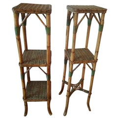 Pair of Rattan Stands, French Manufacture, circa 1900