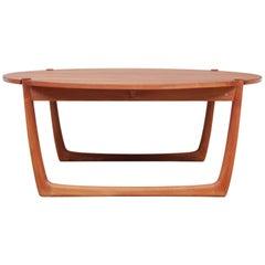 Mid-Century Modern Scandinavian Coffee Table in Solid Teak by Peter Hvidt