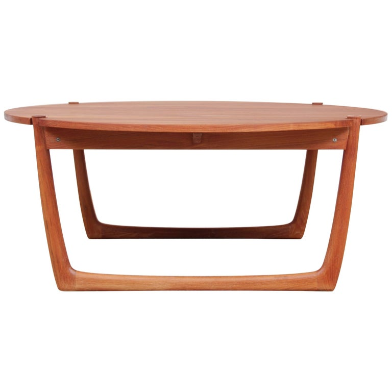 Mid century modern scandinavian coffee table in solid teak by peter hvidt for sale at 1stdibs Solid teak coffee table