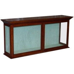 Victorian Mahogany Retail Shop Display Cabinet Counter, Original Glazing