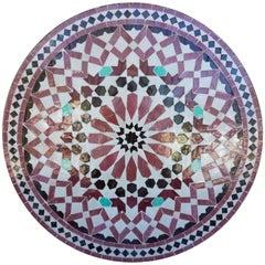 Moroccan Mosaic Table, Multi-Color Settachia
