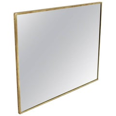 Italian Rectangular Brass Frame Mirror