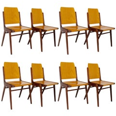 Beechwood Dining Room Chairs by Franz Schuster Vienna, 1959