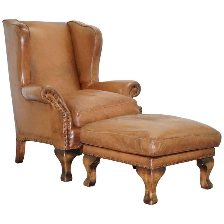 RRP £2100 JOHN LEWIS COMPTON BROWN LEATHER ARMCHAIR And