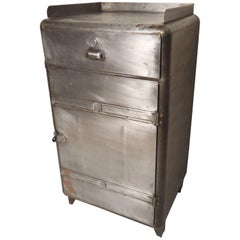 Restored Metal Factory Cabinet