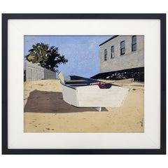 """""""White Boat, Nantucket"""" by John Austin"""