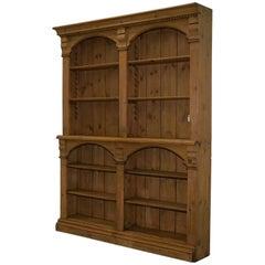 Restored Large Victorian Oak Bar Bookcase