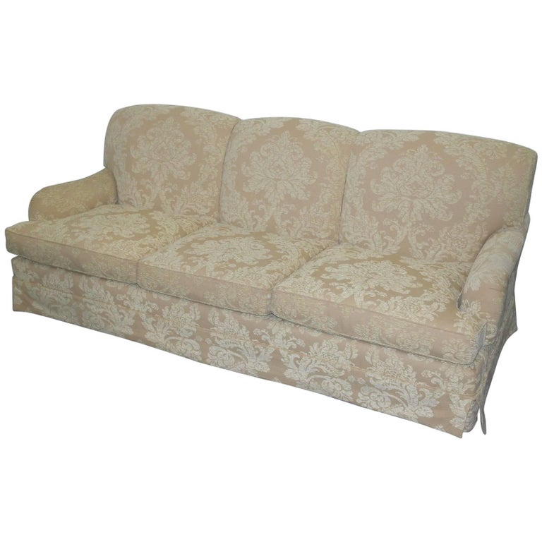 Beaumont and Fletcher Brooke Howard Form Sofa with Damask Upholstery