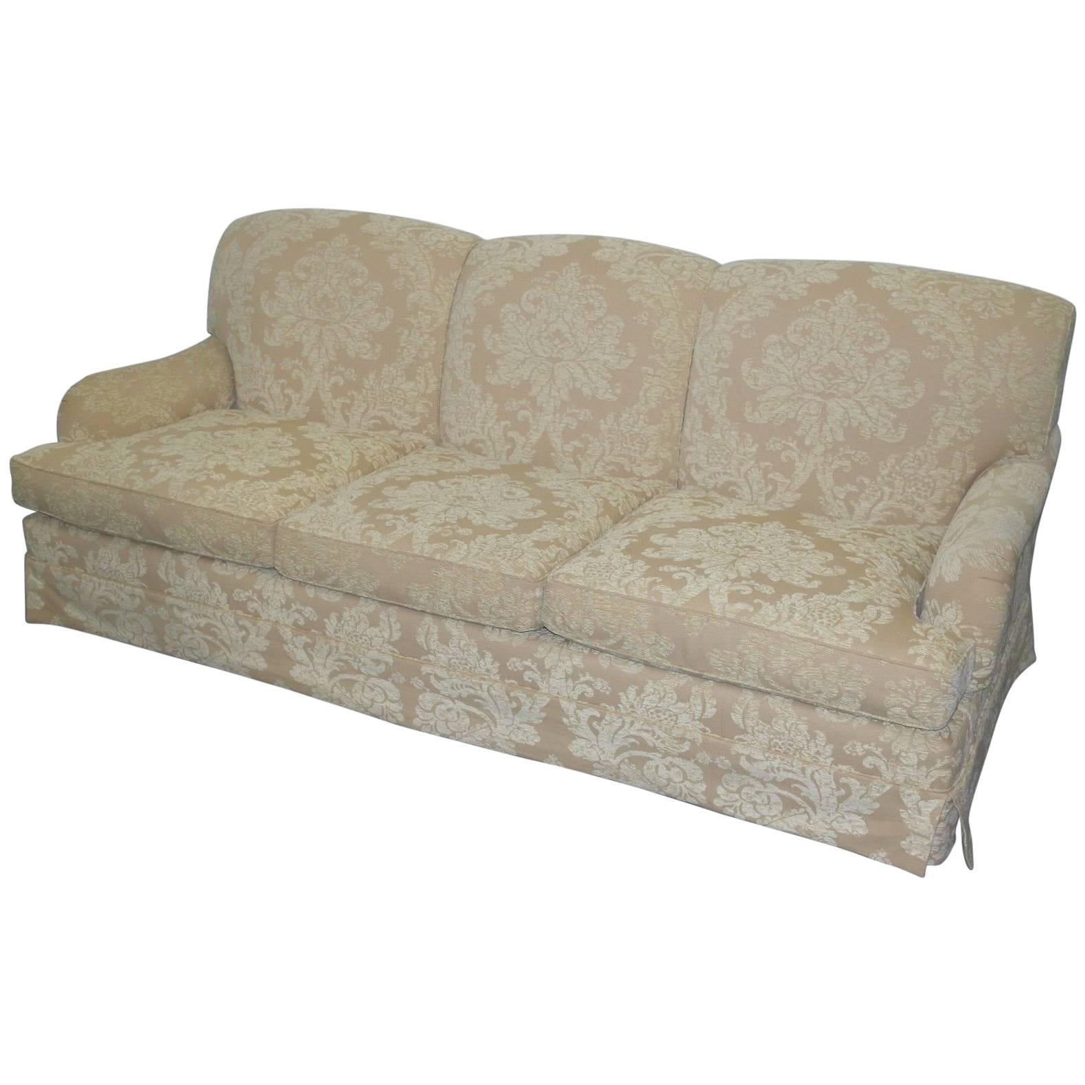 Beaumont And Fletcher Brooke Howard Form Sofa With Damask Upholstery For  Sale