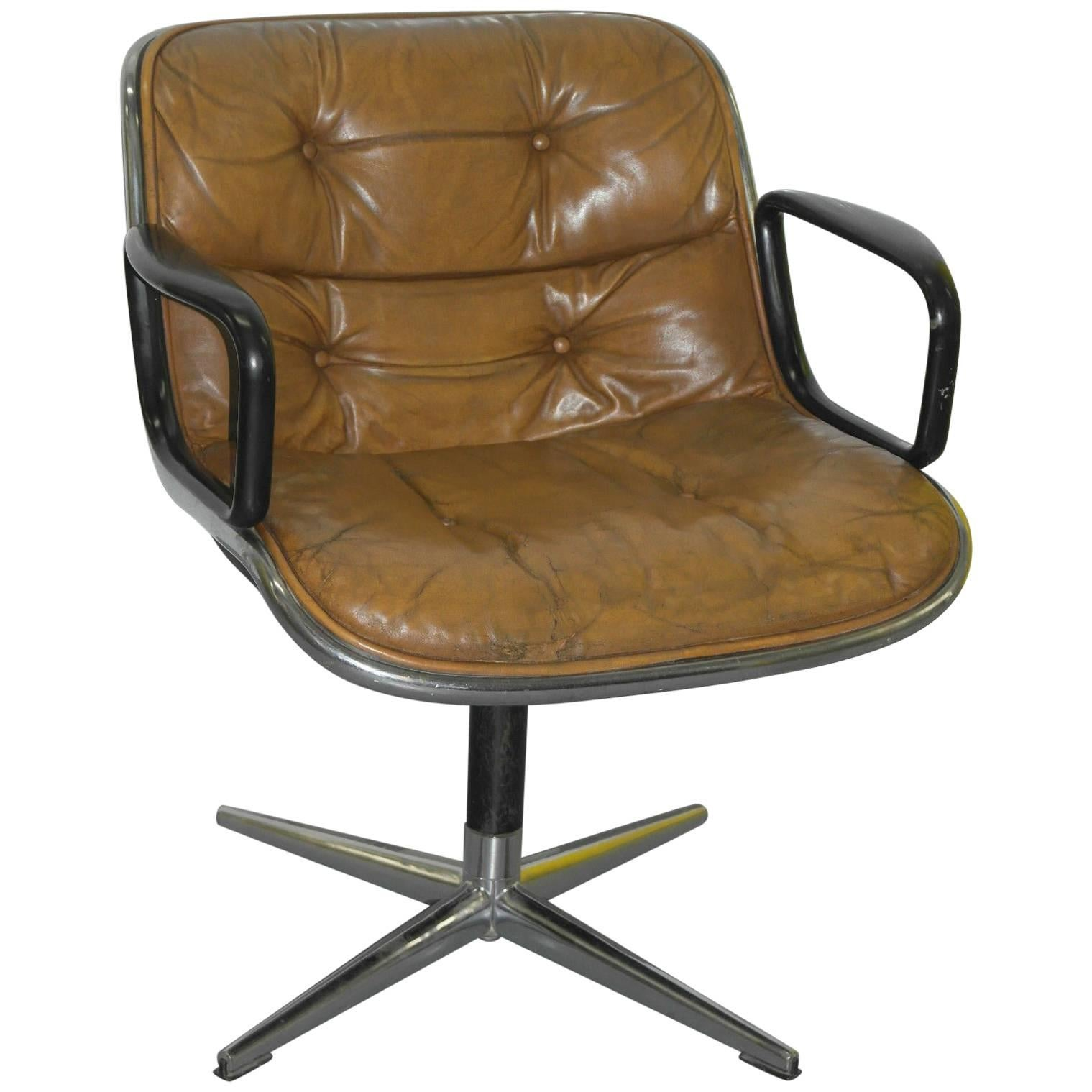 Original 1963 Knoll Charles Pollock Executive Chair With All Original  Labels For Sale