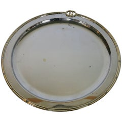 Gucci Vintage Round Silver Plate Tray