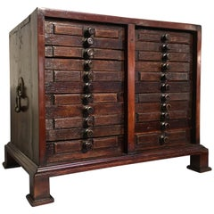 18th Century, English George II Collector's Specimen Chest with 22 Drawers
