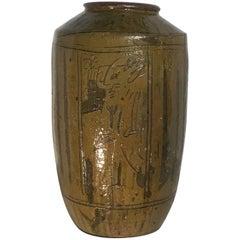Large Mid-Century Glazed Chinese Stoneware