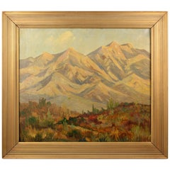 Impressive Antique California Plein Air Landscape of Montrose California