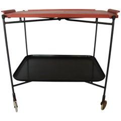 Mid-Century Modern Asian Inspired Bar Tea Cart