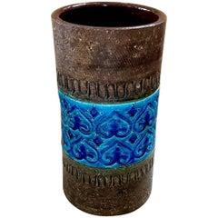 1960s, Moorish-Style Italian Vase by Aldo Londi for Bitossi