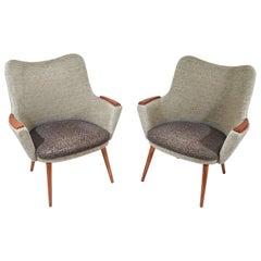 Pair of Danish Mogens Hansen No. 2 Easy Chairs