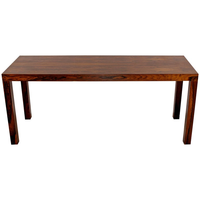 Mid Century Modern Danish Rosewood Console Sofa Table